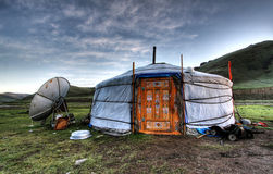 Mongolian dwelling Royalty Free Stock Photography