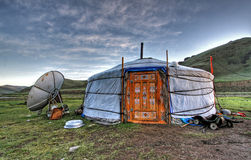 Mongolian dwelling Stock Images