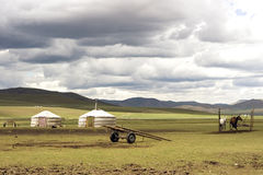 Mongolian dwellings, Gers Stock Images