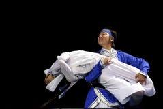 Mongolian ethnic dancers Stock Image