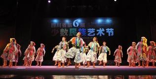 Mongolian ethnic dancers Royalty Free Stock Photo