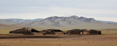 Mongolian Farm Buildings Royalty Free Stock Images