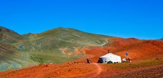 mongolian gór jurta Fotografia Stock