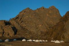 Mongolian Ger Camp Stock Photos