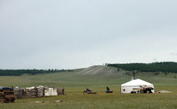 Mongolian ger Royalty Free Stock Photography
