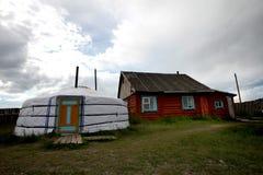 Mongolian ger Royalty Free Stock Photos