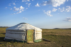 Mongolian Ger Steppe Royalty Free Stock Images