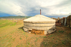Mongolian Ger at Ulaanbaatar Suburbs Royalty Free Stock Images