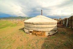 Mongolian Ger at Ulaanbaatar Suburbs Royalty Free Stock Images