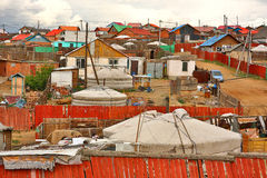 Mongolian Ger at Ulaanbaatar Suburbs Royalty Free Stock Photos