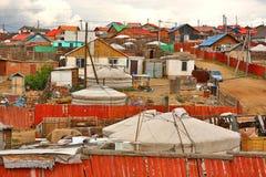 Mongolian Ger an Ulaanbaatar-Vororten Lizenzfreie Stockfotos