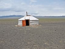 Mongolian ger. Ger (or yurt) is a nomade home in Mongolia Stock Photos