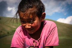 Mongolian Girl. A portrait of a young nomadic mongolian girl Stock Photography