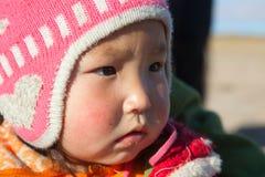 Mongolian girl Stock Images