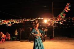Mongolian girls performance Stock Image