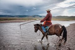 Mongolian herder Royalty Free Stock Images