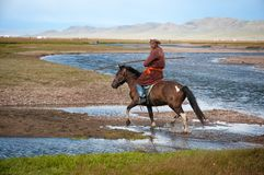 Mongolian herder Stock Photos