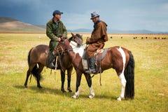 Mongolian herders Stock Photography