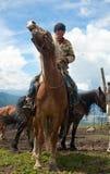 Mongolian herdsman Stock Image