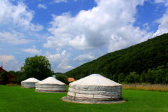 Mongolian home - yurts Stock Images