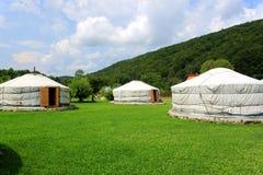 Mongolian home - yurts Stock Image