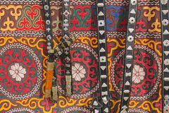 Mongolian horse harness and handicrafts. Stock Photos