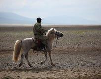 Mongolian Horseman Stock Image