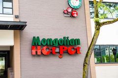 Mongolian Hot Pot Restaurant in Chinatown Seattle Washington Royalty Free Stock Photography