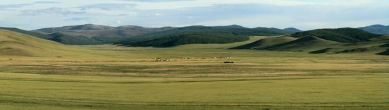 Mongolian Landscape and Nature Stock Images