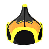 Mongolian military helmet.Colored metal helmet conical shape.Mongolia single icon in cartoon style vector symbol stock Royalty Free Stock Photos