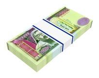 Mongolian money isolated on white background. Stock Photography