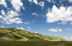 Mongolian Mountainscape Royalty Free Stock Photos