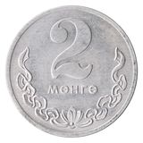 Mongolian Mungu Coin stock images