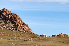 Mongolian nomad home Stock Photography