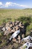 Mongolian Ovoo sagrado Fotos de archivo libres de regalías