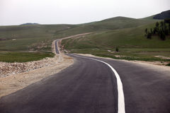 Mongolian Road Stock Photography