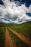 Mongolian Road Royalty Free Stock Photography