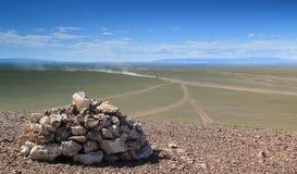 Mongolian Roads Stock Images