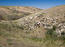 Mongolian semi-desert valley Royalty Free Stock Photography