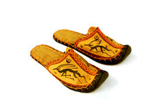 Mongolian slippers Stock Image