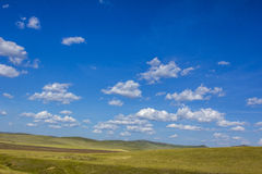 Mongolian steppe landscape royalty free stock photography
