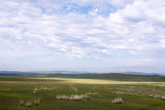 Mongolian Steppes. The vast grasslands of the Mongolian steppes Stock Photos