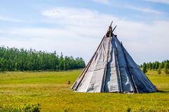 Mongolian teepee Royalty Free Stock Images
