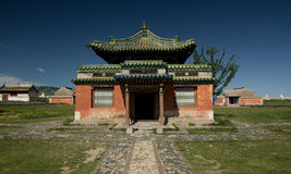 Mongolian temple. Temple in the Charchorin monastery, the oldest monastery in Mongolia stock images