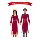 Mongolian Traditional Clothes People Stock Photography