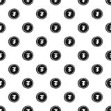 Mongolian tugrik coin pattern, simple style Royalty Free Stock Photos