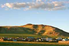 Mongolian village Royalty Free Stock Image