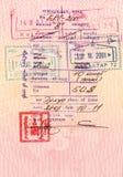 Mongolian visa Stock Image