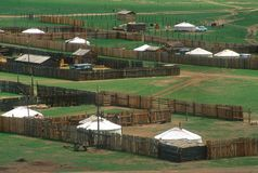 mongolian wioski Zdjęcia Royalty Free