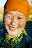 Mongolian Woman in Traditional Dress Concept Stock Photography